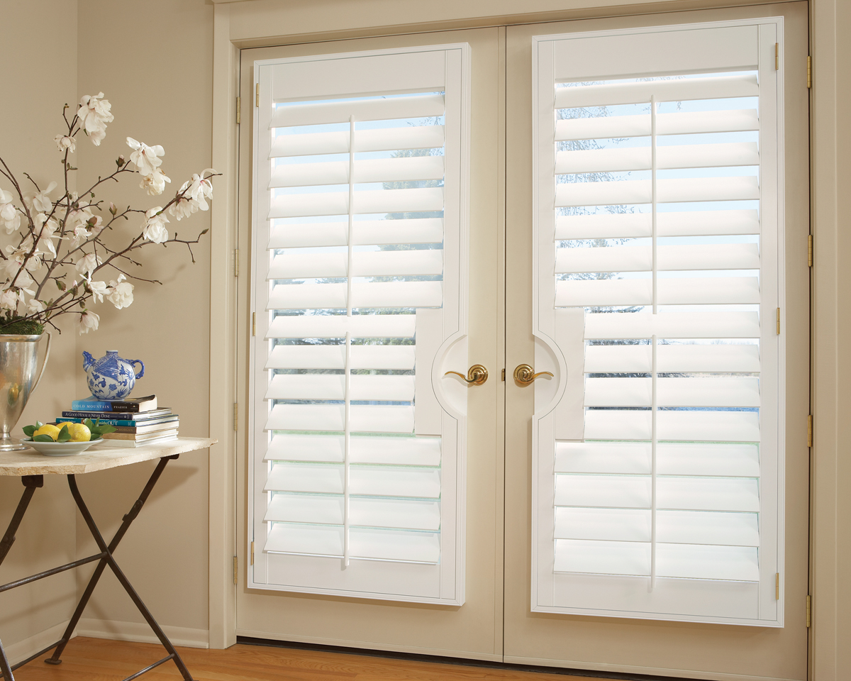 Main line window shutters interior wood plantation for Wood doors and shutters