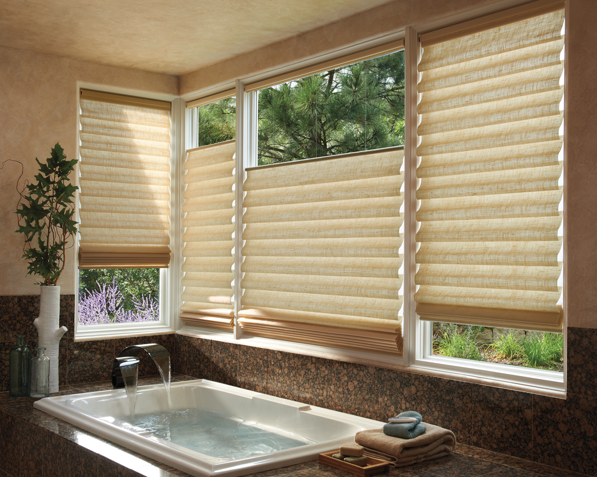 Bucks county roman shades best roman shades bucks county pa blind builders - Best blind for bathroom ...