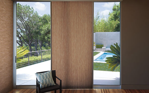 Applause Duette sliding glass doors vertiglide functional fashionable insulated private uv protection greenguard certified