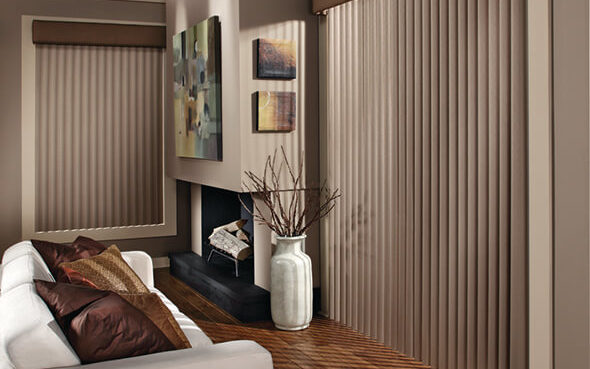 curved s-shaped louvers Cadence Soft Vertical Blinds elegant drapery effect dust repelling uv protection want control