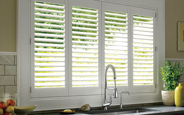 UV resistant dust repelling stain resistant durable palm beach polysatin shutters
